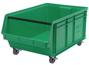 Bin with wheels