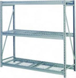 Bulk Storage Rack with Wire Deck