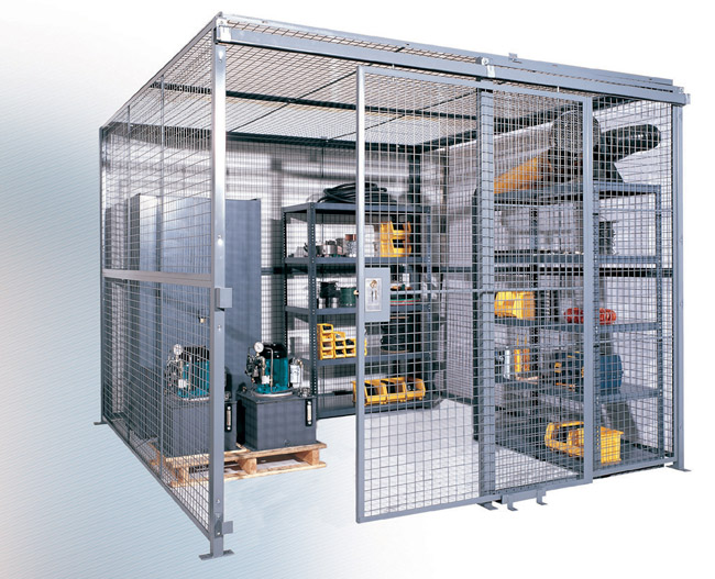 Wire Mesh Security Cage | Wire Mesh Partitions Cages Security Cages Smith Material Handling