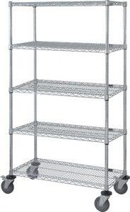 Wire Shelf Mobile Cart