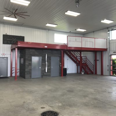 Mezzanine in Aircraft Hangar